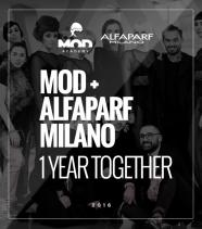 Mod + Alfaparf Milano <br/>un anno insieme